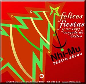 Felicitaciones de NHI-MU, Teatro aéreo, para TEATRÍN VIAJERO