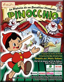 Estrenan PINOCCHIO, en el Teatro Luisela Díaz