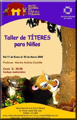 TALLER DE TÍTERES para niños en PERÚ