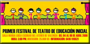 <strong>I Festival de Teatro de Educación Inicial en Escena </strong>